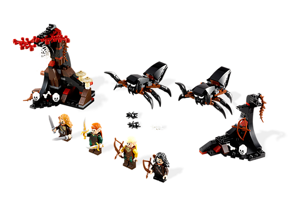 <p>Defeat 4 <i>Mirkwood</i> Forest spiders and rescue the Dwarves from cocoons in a LEGO® <i>The Hobbit: An Unexpected Journey</i>™ set with 4 minifigures!</p>