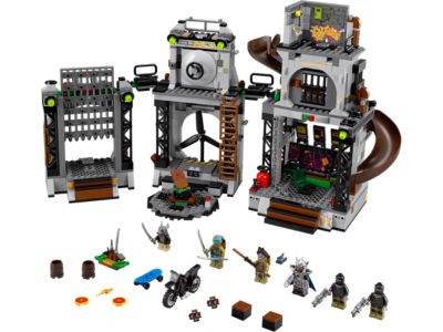 Explore product details and fan reviews for Turtle Lair Invasion 79117 from Ninja Turtles TM. Buy today with The Official LEGO® Shop Guarantee.