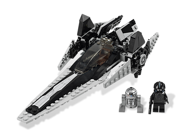Build one of the first starfighters to be used by the Galactic Empire, the Imperial V-wing Starfighter™, featuring working cockpit and rotating wings!