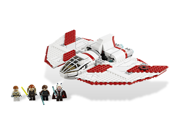 Turn the detachable cockpit into an escape pod to prepare for ambush on the T-6 Jedi Shuttle™, which also features rotating wings for flying mode!