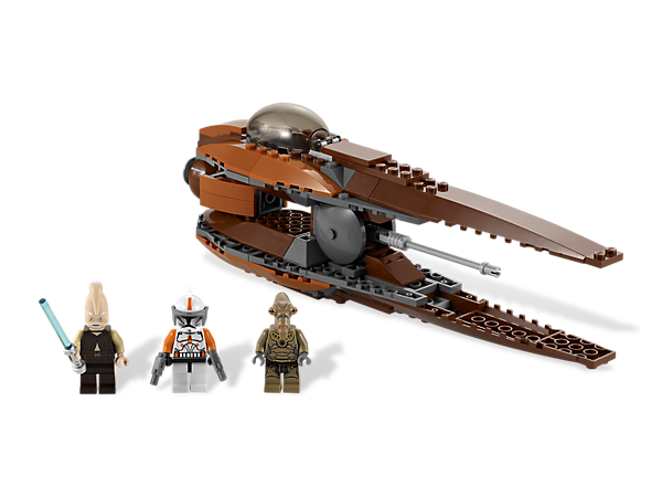 Put the speedy Geonosian Starfighter™ in your sights and protect the Clone Army from attack by laser cannon and proton torpedo fire!