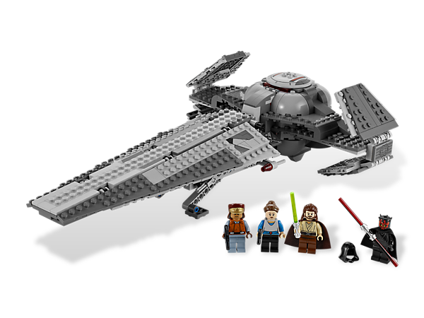 Defend Queen Amidala™ at all costs from Darth Maul's Sith Infiltrator™, which features folding wings, landing gear and detachable speeder!