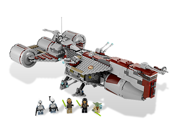 Collect the iconic Republic Frigate™, straight from Star Wars: The Clone Wars, featuring opening hatches and detailed interior!