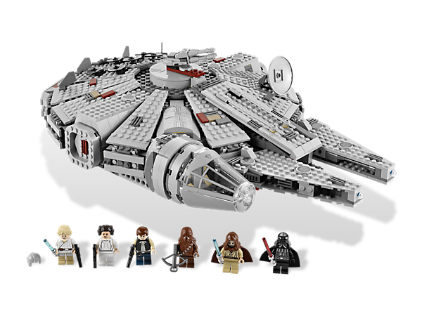 Relive an epic battle of intergalactic proportions aboard the iconic Millenium Falcon™, featuring opening hull and other stunning details!