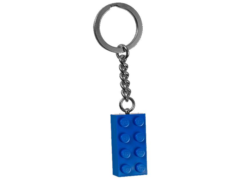 LEGO Blue 2x4 Stud Keyring