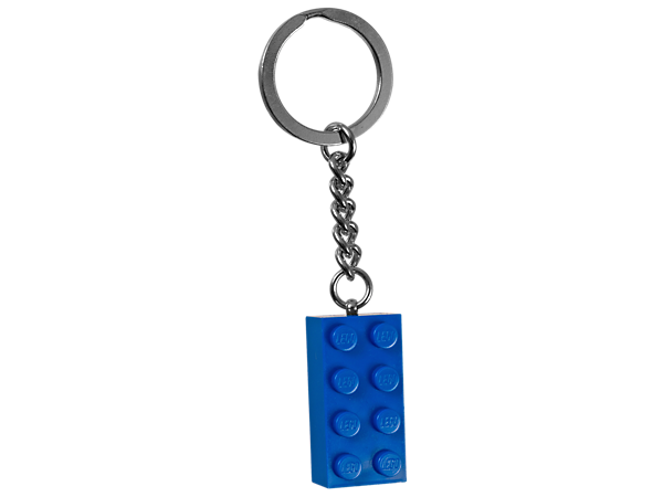 Impress your friends with this authentic 2x4 stud LEGO® brick in blue attached to a sturdy metal ring and chain.
