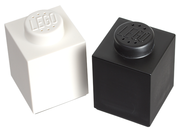 Kick up the flavour and the LEGO® building love in your kitchen with supersized 1-stud LEGO brick shakers in classic black and white!
