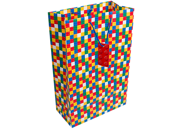 Build some excitement for your gift with the LEGO® Classic Gift Bag for small or medium-sized building sets!