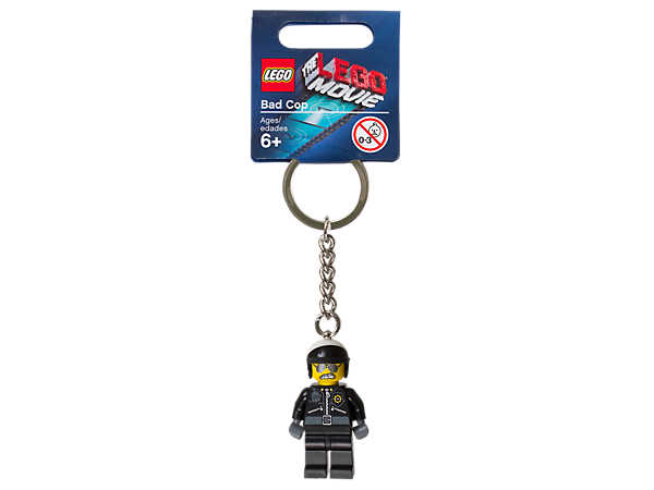 <p>Guard your gear with THE LEGO® MOVIE™ Bad Cop Key Chain featuring an authentic minifigure, metal ring, and chain.</p>
