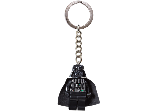 Explore the dark side with the LEGO® <i>Star Wars</i>™ Darth Vader™ keyring featuring an authentic minifigure, durable metal ring and chain!