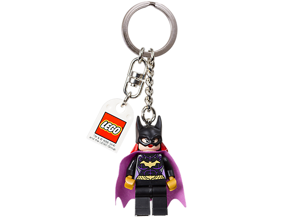 Launch into action with the LEGO® Super Heroes<i> Batgirl</i> keyring featuring an authentic minifigure with sturdy metal ring and chain!