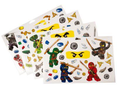 lego® ninjago™ wall stickers - 851348 | ninjago® | lego shop
