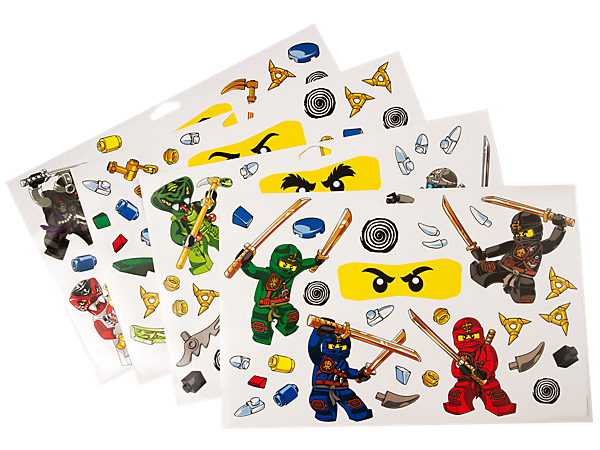 Explore product details and fan reviews for LEGO® NINJAGO™ Wall Stickers  851348 from Ninjago