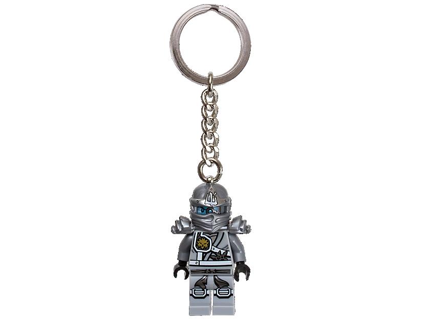 """LEGO NINJAGO"""" Titanium Ninja Zane Keyring"""