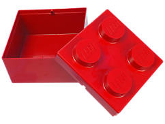 Brique de rangement LEGO® 2x2 rouge
