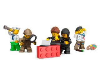 LEGO® Červená úložná kostka 2x2