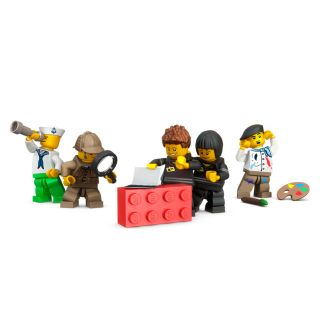 LEGO 2x2 kaste, sarkana