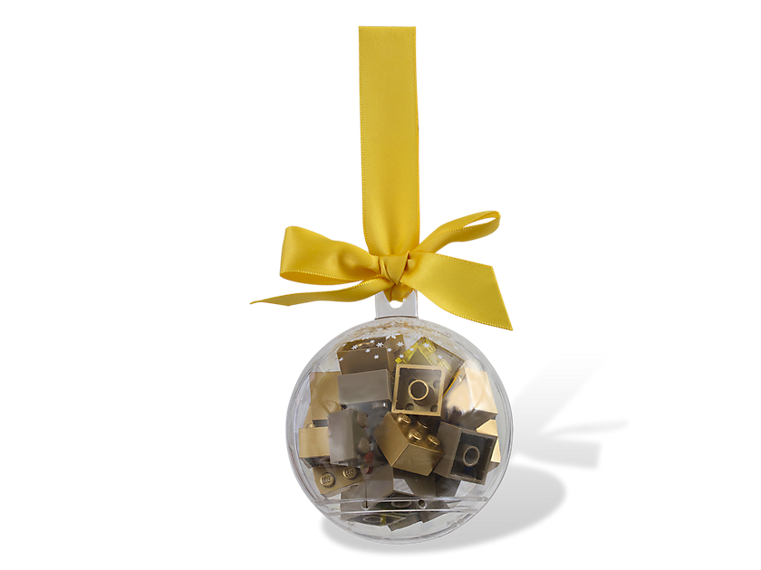 LEGO® Holiday Ornament with Gold Bricks