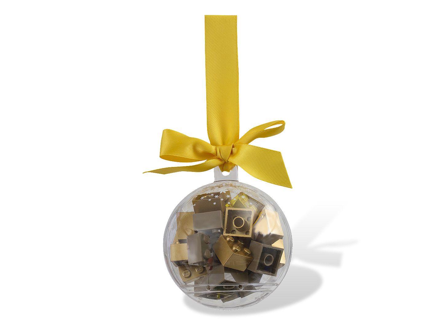 황금색 블록 크리스마스 장식