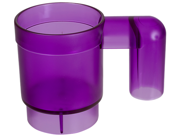 This stackable LEGO® Friends mug is made of transparent plastic, stackable and upscaled to 10 times the size of a standard LEGO mug element.
