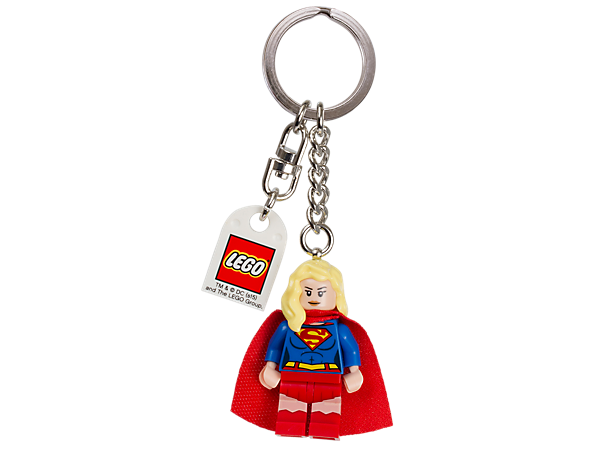 Take Supergirl on your travels with this colorful minifigure keyring with sturdy metal ring and chain.