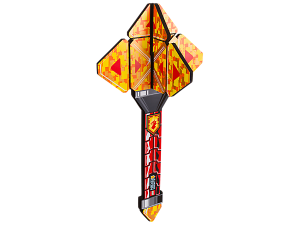 Join in the LEGO® NEXO KNIGHTS™ fun with this soft-foam Macy's Mace, featuring a scannable shield on the handle and futuristic decoration.