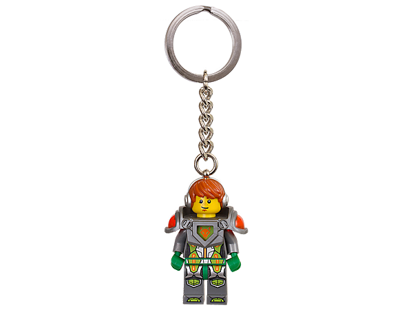 Set off on epic adventures with this LEGO® NEXO KNIGHTS™ Aaron Key Chain, featuring an authentic minifigure with sturdy metal ring and chain.