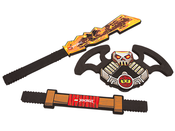 Get set for swashbuckling battles with the NINJAGO™ Customizable Sword featuring 3 soft-foam elements—combine in different ways to make your own Djinn Blade.