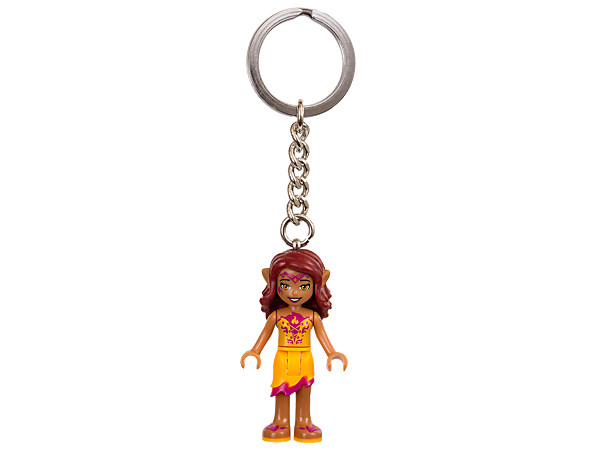 Live out adventures every day with this Azari the Fire Elf Key Chain featuring an authentic mini-doll figure attached to a sturdy metal ring and chain.