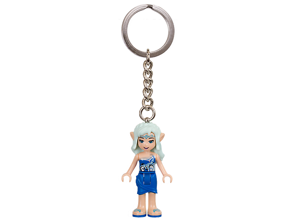 Open up new adventures with this LEGO® Elves key chain featuring an authentic Naida mini-doll figure with sturdy metal ring and chain.