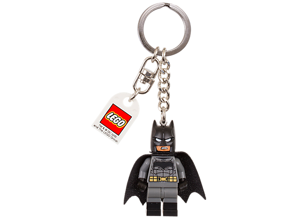 Team up with the Caped Crusader with this LEGO® DC Comics™ Super Heroes key chain featuring an authentic Batman™ minifigure attached to a sturdy metal ring and chain.