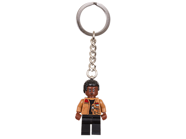 Feel the Force everywhere you go with this Finn keyring featuring an authentic minifigure with sturdy metal ring and chain.