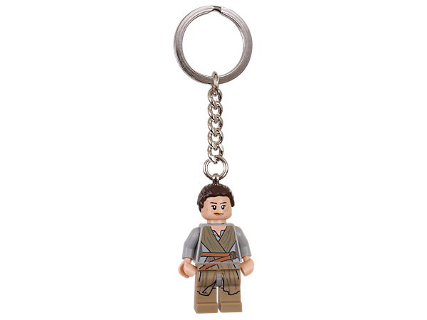 Take Rey along for the ride with this fun key chain featuring an authentic minifigure with sturdy metal ring and chain.