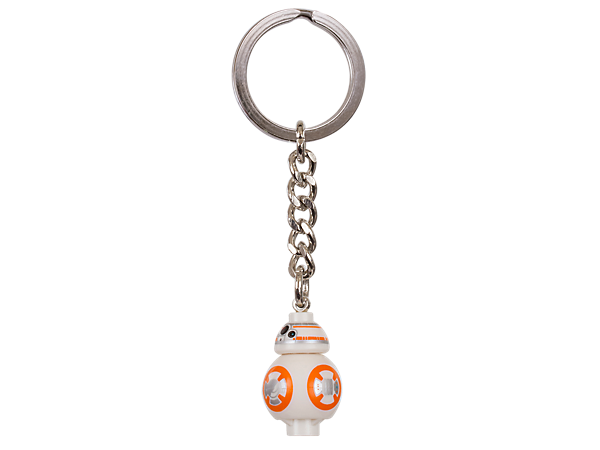 Keep your very own astromech droid with this BB-8 keyring with sturdy metal ring and chain.