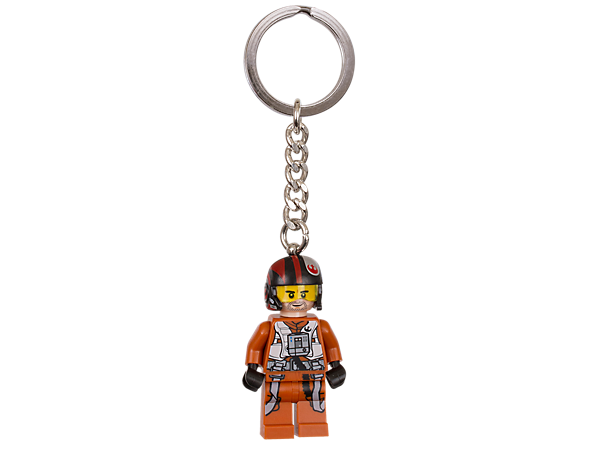 Journey to the stars with this Poe Dameron Key Chain featuring an authentic minifigure with sturdy metal ring and chain.