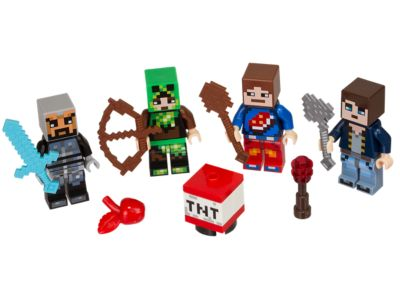 LEGO® Minecraft™ Skin Pack 1 853609 | Minecraft™ | Buy online at the  Official LEGO® Shop US