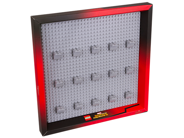 <p>Parade your LEGO® Marvel Super Heroes minifigure collection in style with this display frame featuring 15 LEGO elements for attaching and displaying minifigures.</p>