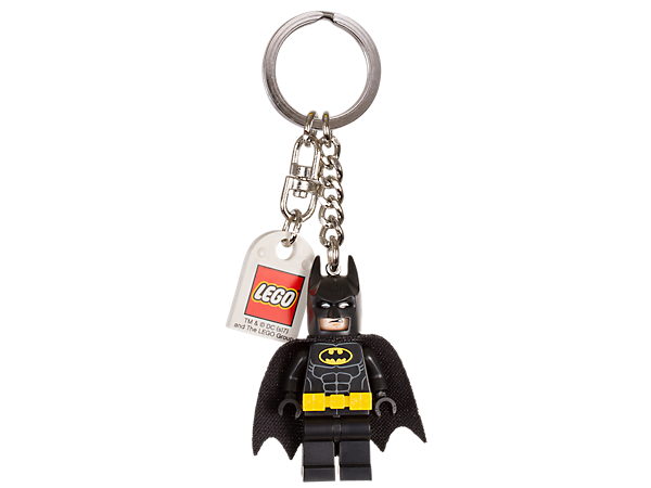 Show off your super hero style with THE LEGO® BATMAN MOVIE Batman™ Key Chain, featuring a Batman minifigure attached to a sturdy metal ring and chain.