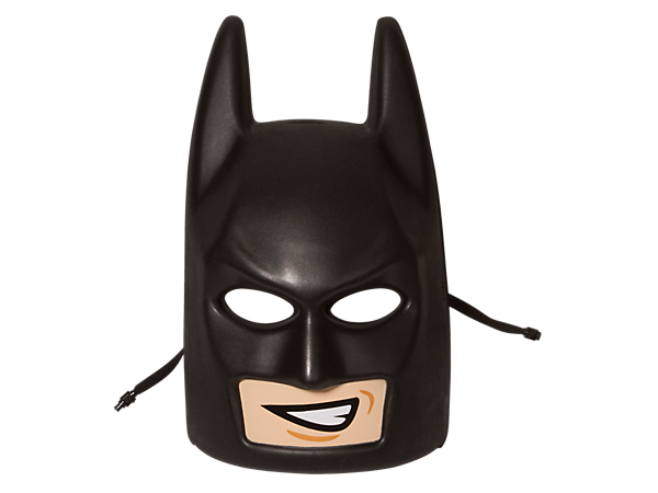 Role-play scenes from THE LEGO® BATMAN MOVIE with this LEGO minifigure head-style Batman™ Mask in compression-molded soft foam with safety snap closure.