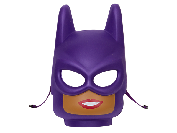 <p>Role-play exciting action from THE LEGO® BATMAN MOVIE with this LEGO minifigure head-style Batgirl™ Mask in compression-molded soft foam with safety snap closure.</p>