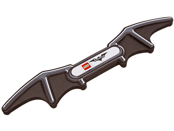 Role-play exciting battles as Batman™ from THE LEGO® BATMAN MOVIE with this up-scaled, soft-foam Batarang.