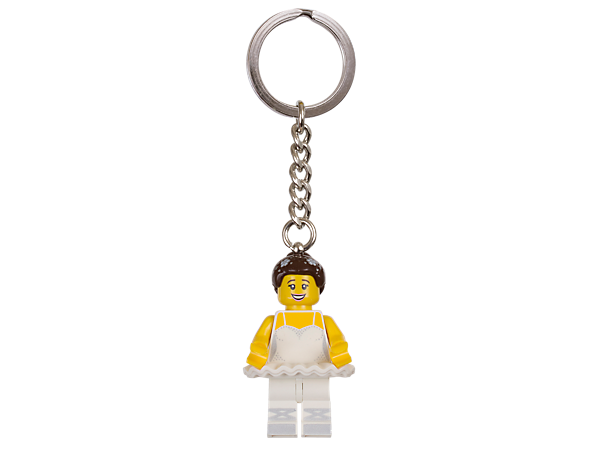 Leap gracefully into every adventure with this Ballerina keyring, featuring an authentic LEGO® minifigure attached to a sturdy metal ring and chain.