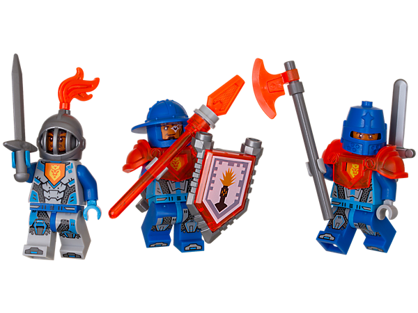Send in the reinforcements! Grow your army with these heroic soldiers, powerful weapons and accessory elements. Includes 3 minifigures and a scannable shield.