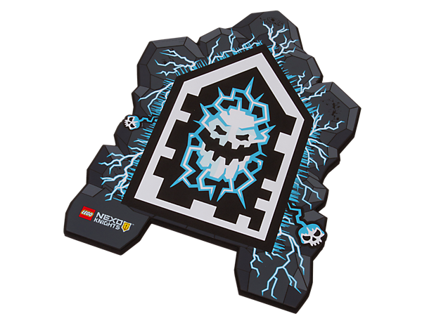 Watch the LEGO® NEXO KNIGHTS™ army freeze in its tracks and shake with fear when you hold up the soft-foam Forbidden Power Shield with its scary Monstrox face!