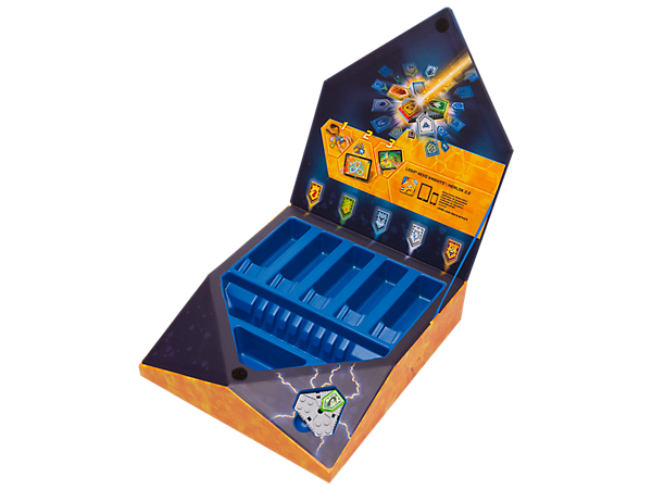 Always be prepared for battle and power your way to victory with this LEGO® NEXO KNIGHTS™ storage and sorting box, including a scannable shield and Combo NEXO Power shield.