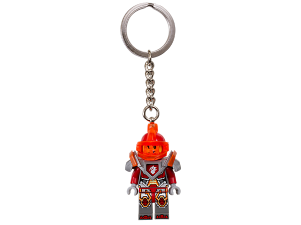 Keep company with Macy Halbert, Knighton's tomboy princess, featuring an authentic LEGO® NEXO KNIGHTS™ minifigure with sturdy metal ring and chain.