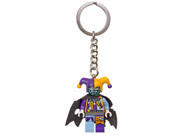 Have the last laugh with this scary Jestro minifigure with sturdy metal ring and chain, and step into the futuristic world of LEGO® NEXO KNIGHTS™.
