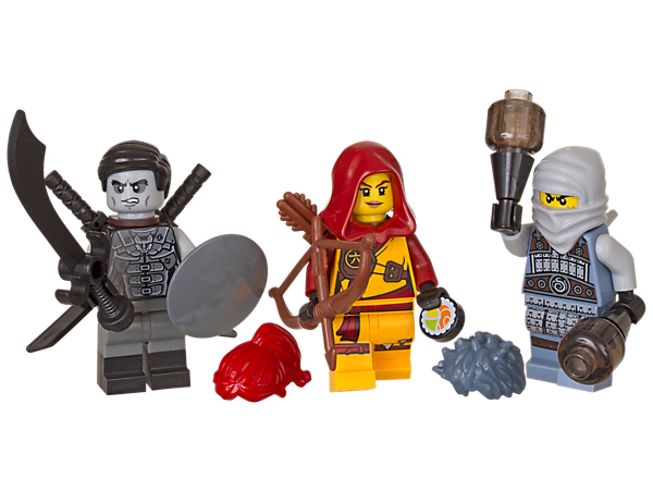 Role-play exciting battles with 3 minifigures—Shade, Ash and Skylor—and an armory of cool weapons and accessory elements.
