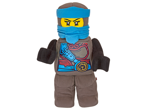 Keep Nya by your side with this up-scaled minifigure-style toy in brushed tricot fabric with silkscreen-printed ninja decoration and embroidered face details.