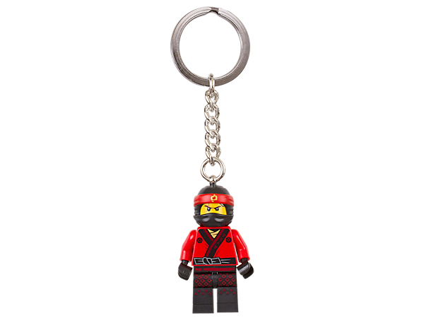 Set off on epic ninja adventures with THE LEGO® NINJAGO® MOVIE™ Kai keyring, featuring a minifigure with sturdy metal ring and chain.